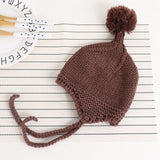 Knit Baby Cap Winter Warm Baby Hat with Pompom