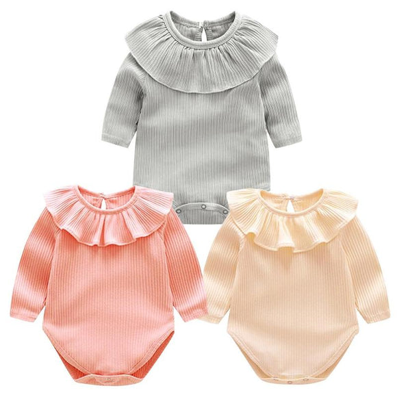 Baby Girls Rompers Newborn Kids 2018 Winter Warm