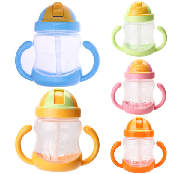 Baby Bottle Kids Cups Silicone Sippy Training