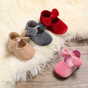 Baby Boy Girl Shoes Bow Princess Soft Bottom