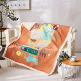Coral Fleece Bedding Blanket Thicken Double