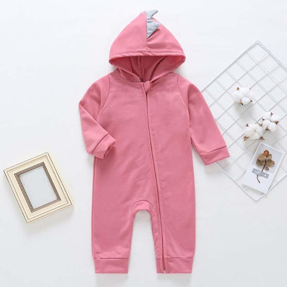Solid Color Slanted Zipper Casual Baby  Wear