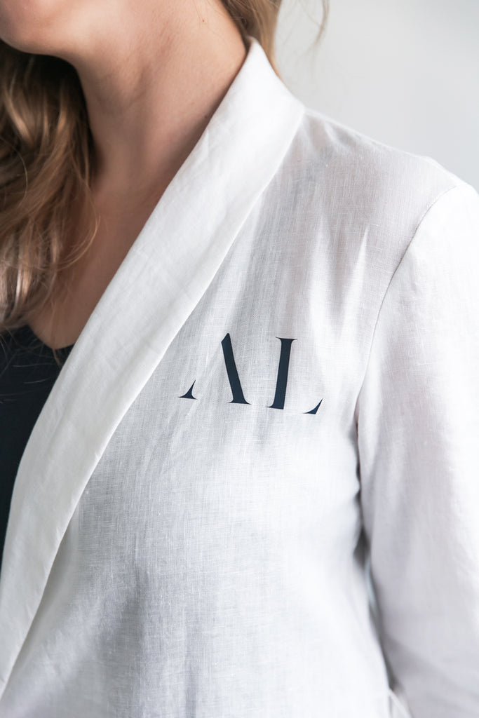 Alys Linen Bridal Robe Personalised