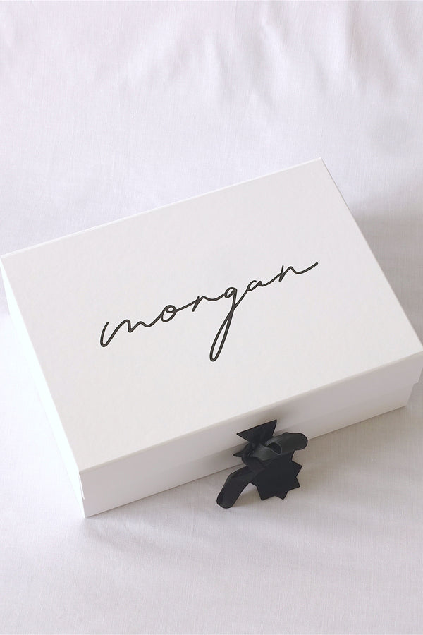 Classic Gift Box with Black Ribbon - Large