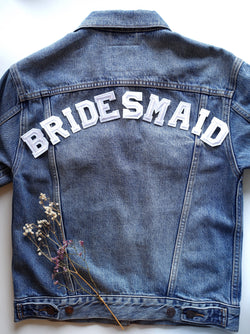 Bridesmaid Set - Iron On Letters White