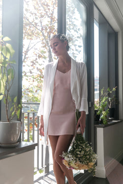 Sena Slip Dress in Blush Pink