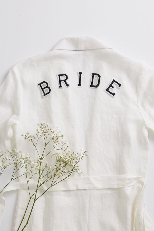 Bride Set - Iron On Letters Black