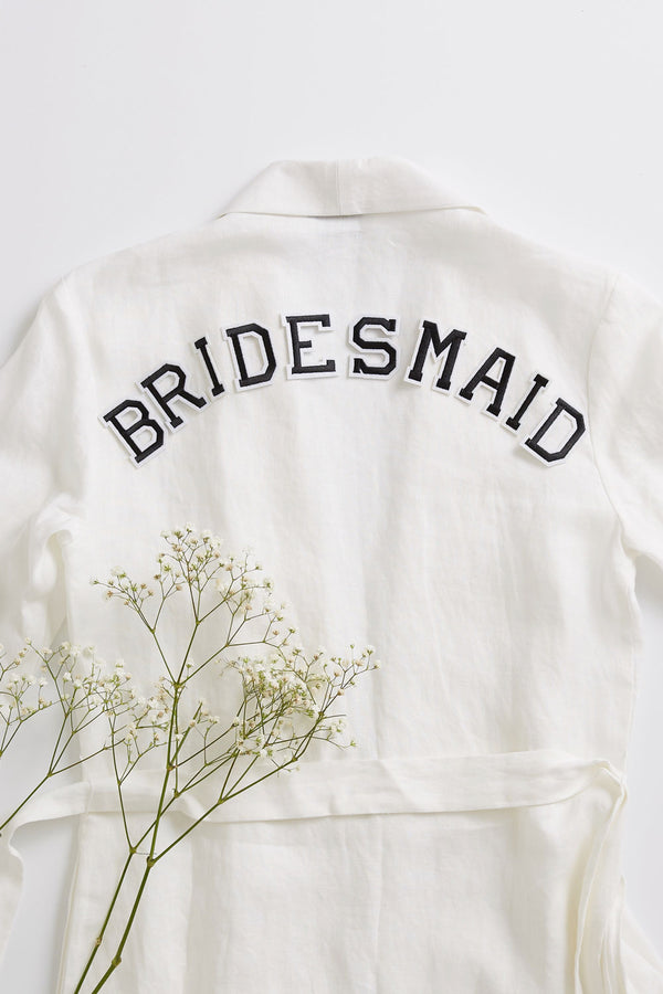 Bridesmaid Set - Iron On Letters Black