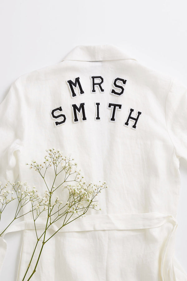 Mrs Surname Set - Iron On Letter Set Black