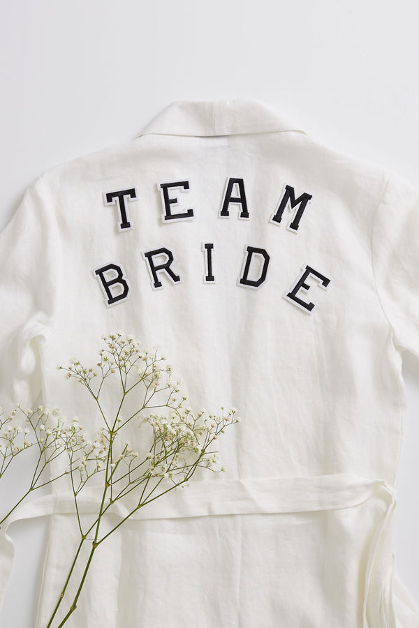 Team Bride Set - Iron On Letters Black