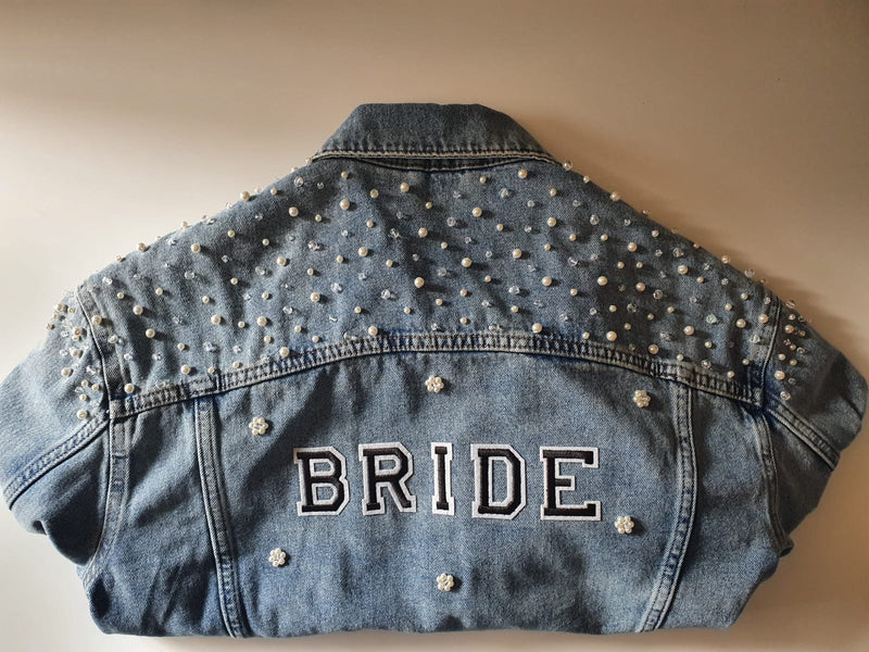 Embellished Denim Jacket - Medium Beading