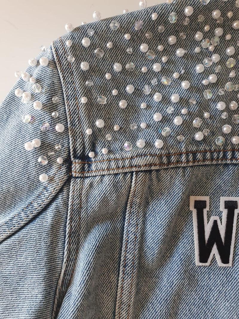 Embellished Denim Jacket - Heavy Beading