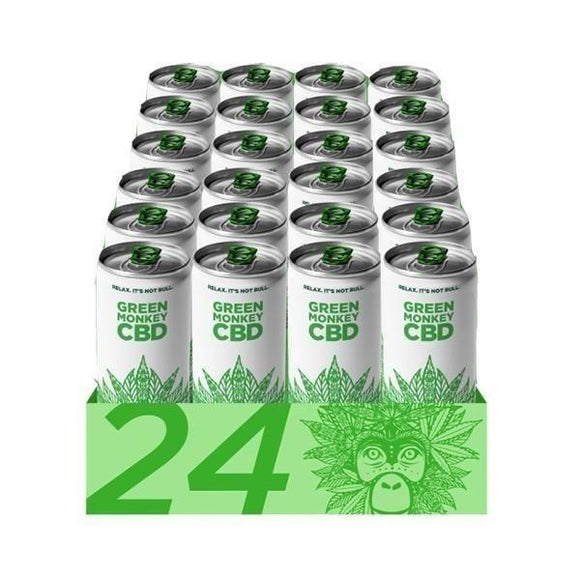 CBD green energy drinks in packet Green Monkey CBD