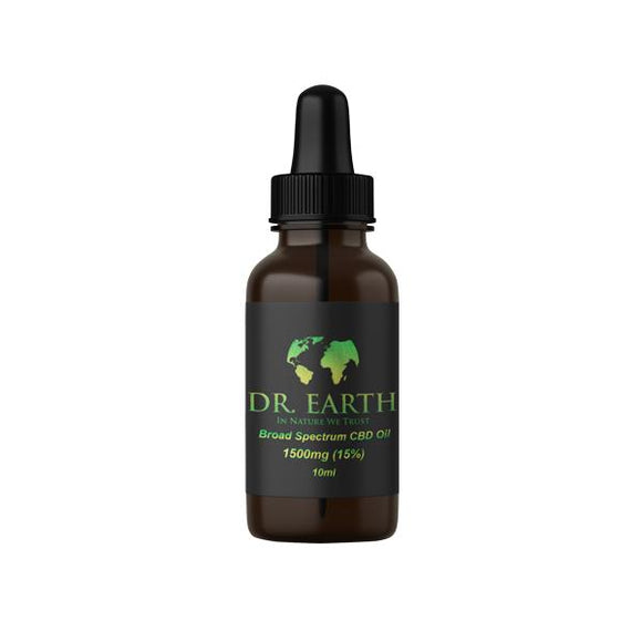 DR. Earth 1500mg CBD Broad Spectrum CBD Oil 10ml