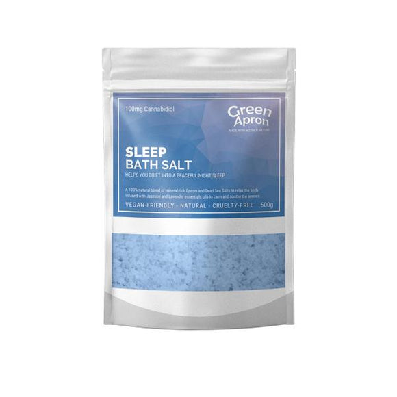 Green Apron 100mg CBD Sleep Bath Salts 500g