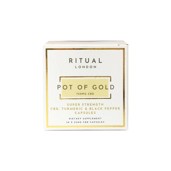 Ritual London 750mg CBD Super Strength Turmeric & Black Pepper Capsules