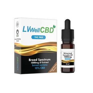 LVWell CBD 1000mg Winterised 10ml Vape Oil