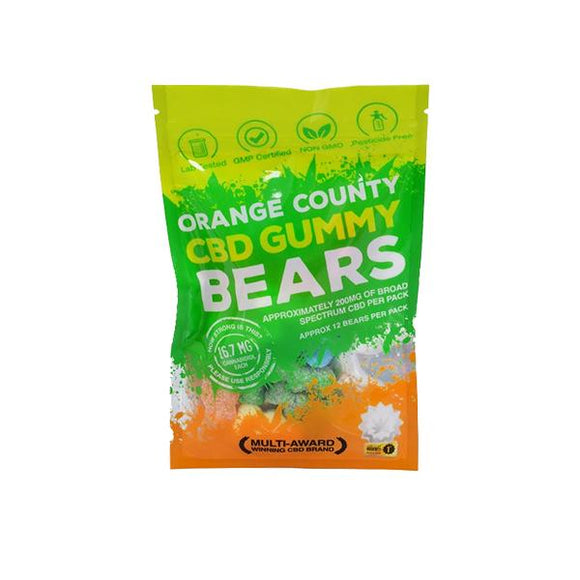 Orange County CBD 10mg Gummy Bears - Grab Bag