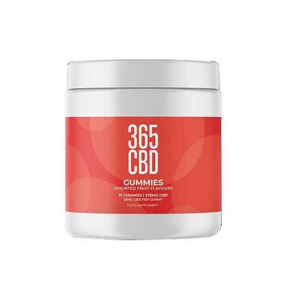 365 CBD Assorted Fruit Flavoured Gummies 150mg CBD