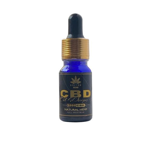 Doctor Herb 2000mg CBD Natural Hemp Full Spectrum CBD Oil 10ml