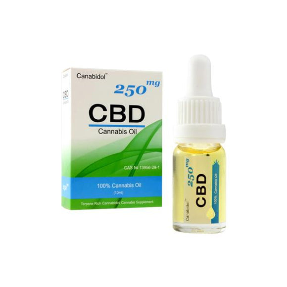 Canabidol 250mg CBD Cannabis Oil Drops 10ml