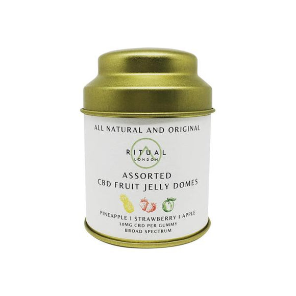 15 Assorted All Natural Vegan CBD Fruit Jelly Domes