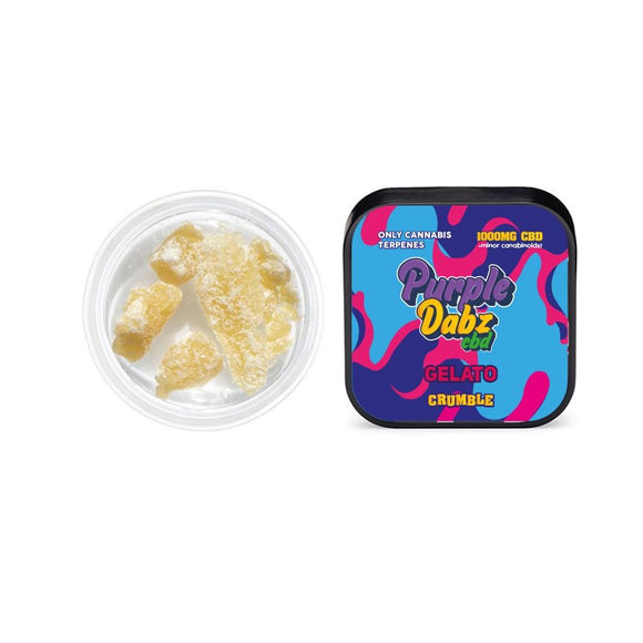 Purple Dabz CBD 1000mg CBD Crumble - Gelato