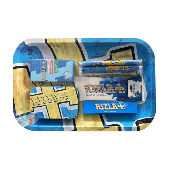 Rizla Small Metal Rolling Tray Gift Set
