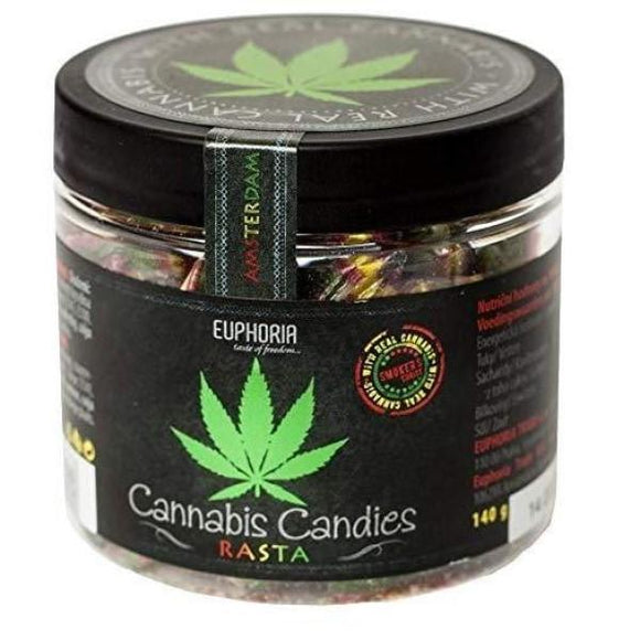 CBD Food & Drink - Euphoria Cannabis Rasta Candies 140g