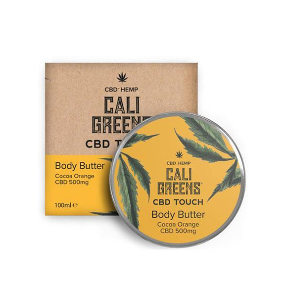 CBD Products - Cali Greens 500mg CBD Body Butter Cocoa Orange 100ml