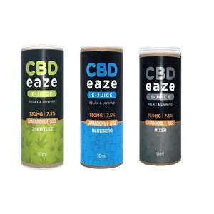 CBD Products - CBD Eaze 750MG CBD 10ml E-Liquid
