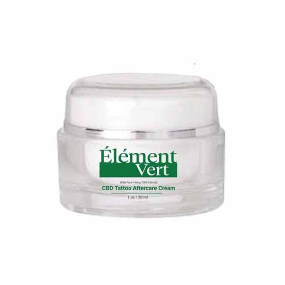 CBD Products - Element Vert CBD Tattoo Aftercare Cream 30ml