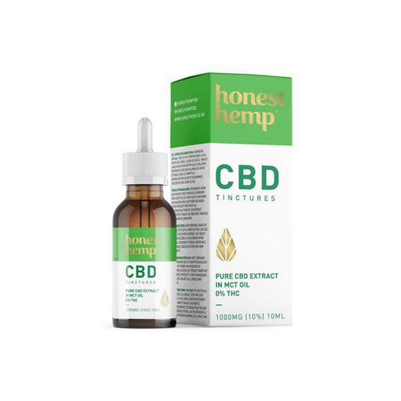 CBD Products - Honest Hemp 1000MG 10ml Pure CBD Extract In MCT Oil
