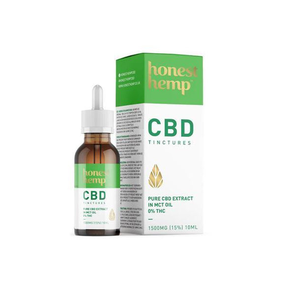 CBD Products - Honest Hemp 1500mg 10ml Pure CBD Extract In MCT Oil