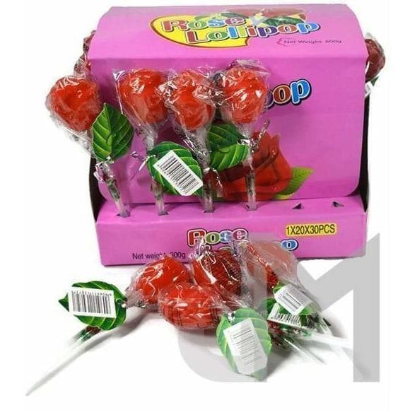 Confectionery - Rose Shaped Lollipops