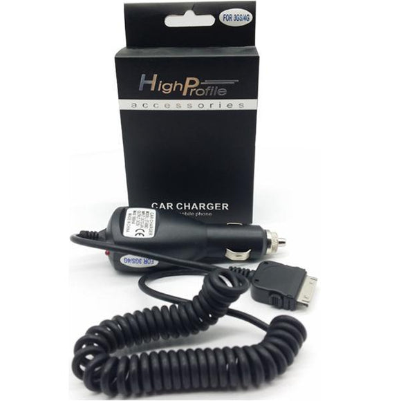 Electronic & Mobile Accessories - HighProfile 30PIN Coiled In-Car Charger For Apple Devices