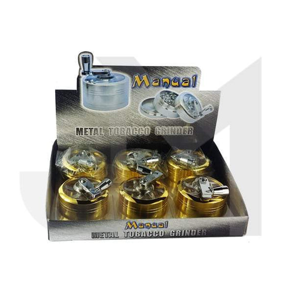 Grinders - 3 Parts Manual Metal Grinder 50mm Gold Coated - HX085SY-3G