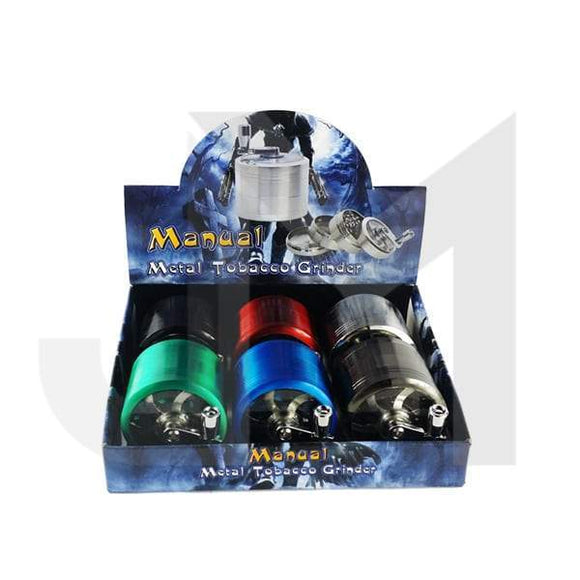 Grinders - 4 Parts Manual Metal Colour 60mm Grinder - HX060-SY