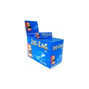 Smoking Products - 10 Pack X 8 Booklet Zig-Zag Blue Regular Rolling Papers
