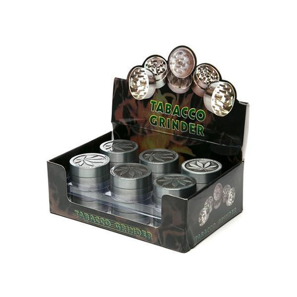Smoking Products - 3 Parts Mini Metal Silver Grinder - HX003LS-BM