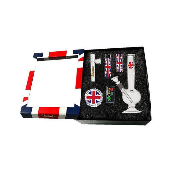 Smoking Products - 4 Smoke Glass Bong Gift Set - GB52