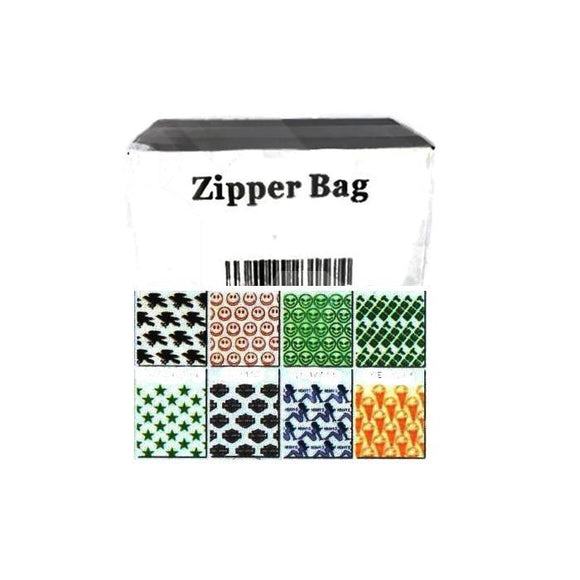 Smoking Products - 5 X Zipper Branded 2 X 2 Printed Baggies
