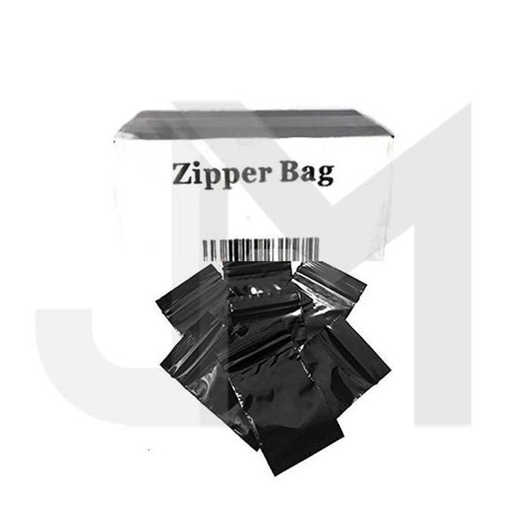 Smoking Products - 5 X Zipper Branded  30mm X 30mm Black Bags