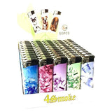 Smoking Products - 50 X 4Smoke Electronic Lighters Various Designs - WK73