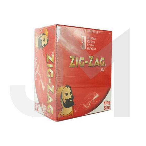 50 Zig-Zag Red King Size Rolling Papers