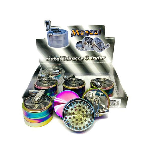 Smoking Products - 6 X 3 Parts Manual Metal Rainbow Grinder - HX058SY-3XC