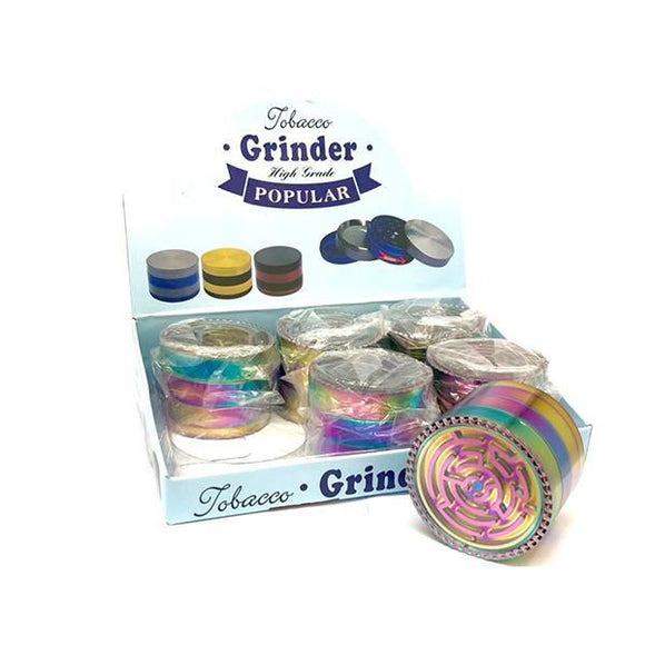 Smoking Products - 6 X 4 Parts High Grade Rainbow Metal Grinder - HX106XC