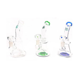 "Smoking Products - 6 X 7"" Mix Colour & Mix Design Medium Glass Bong - WP-66"