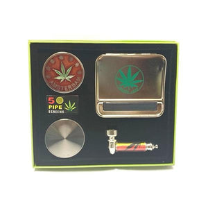 Smoking Products - Amsterdam Pipe Gift Set - Sliver - TZ1039S