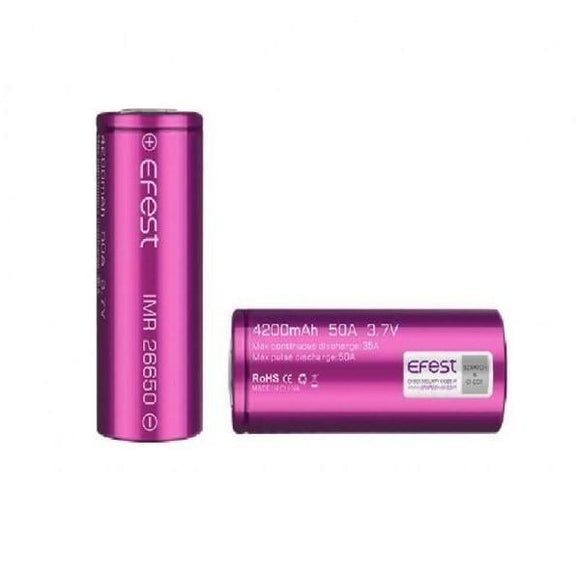 Vape Batteries - Efest 26650 4200mAh Battery